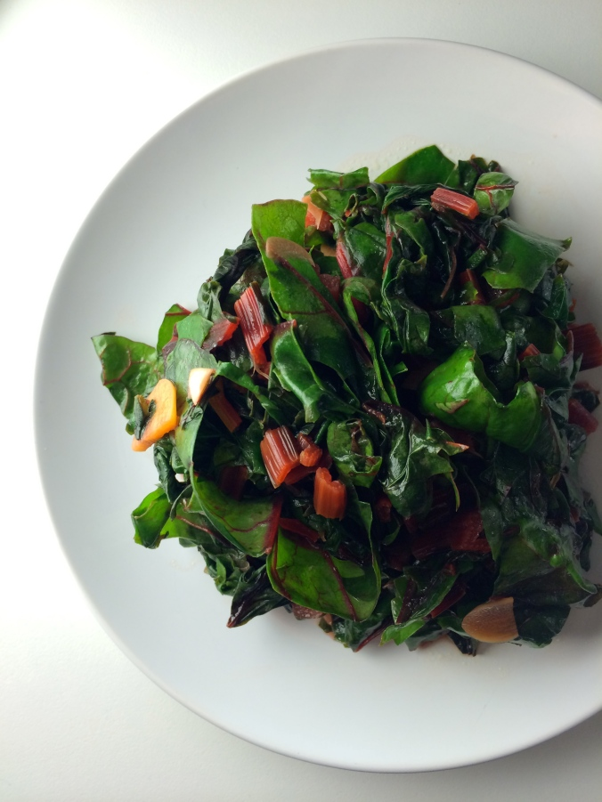 Swiss Chard with Garlic and Lemon