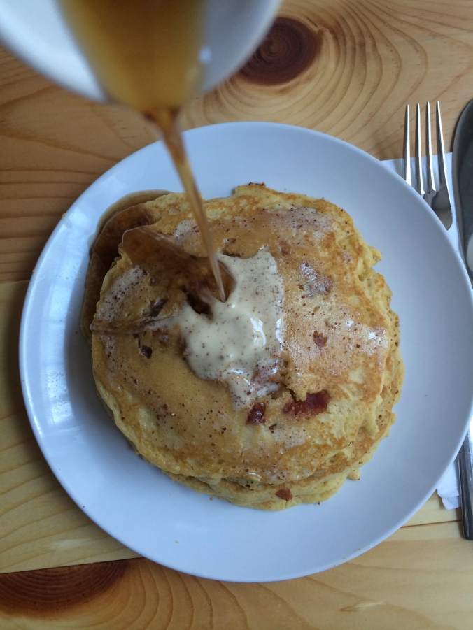 Bacon Cornmeal Pancakes